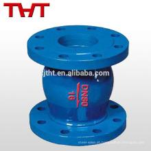Válvula de retenção de baixo brilho flangeada com mola de pn16