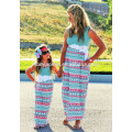 2017 matching mother daughter clothes wholesale family matching clothing set