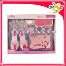 Fashion design party decoration set toys for girls(shoes,handbag,glasses)