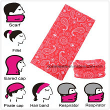 Impressão promocional de logotipo personalizado em microfibra multifuncional personalizada Buff bandana