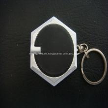 Werbeartikel Led Hexagnal Taschenlampe Schlüsselanhänger