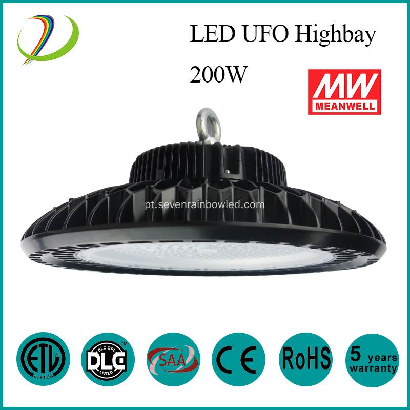 240W Alumínio IP65 Led UFO High Bay