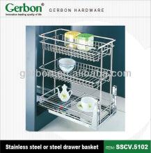 kitchen accessories and hardware cabinet basket