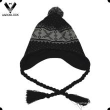 Bonnet péruvien en tricot d'hiver en acrylique de mode