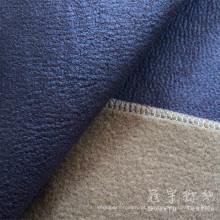 Tecido de poliéster de couro artificial para decoração
