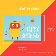 Cartões do feliz aniversario de 48 crianças do costume do bloco para miúdos