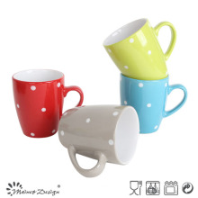 12oz Color Glaze Dots Coffee Mug