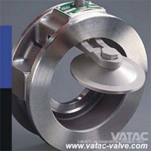 De acero inoxidable Ss304 / Ss316 / Ss304L / Ss316L Válvula de retención de obleas de disco basculante Fabricante