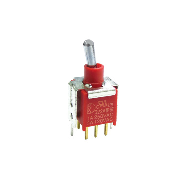 IP67 kalis air IP67 Toggle Switch yang dimeteraikan