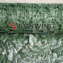 El bambú plástico artificial verde del boj deja el seto de la estera (V-1)