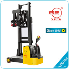 China for Semi Electric Stacker Truck Xilin CDDRM electric narrow aisle stacker with crane supply to Ukraine Suppliers