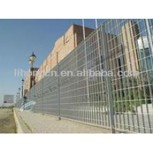 Clôture de sécurité galvanisée, clôture grillagée en acier galvanisé