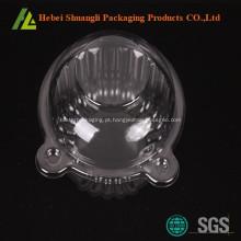 Caixas de embalagem do queque de plástico transparente clara