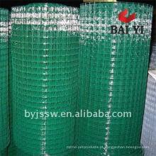 Malha de arame soldada revestida de PVC (fabricante profissional)