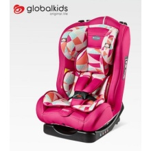 Child car seats with red-pink cover