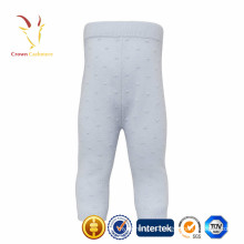Pantalones de punto 100% de cachemir de invierno para bebés y niños
