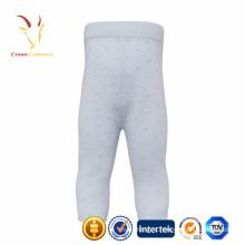 Inverno 100% calças de malha de cashmere para bebê e crianças