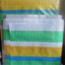 Stripe Tarpaulin Blue Polyethylene PE Tarpaulin Fabric