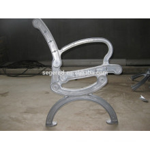 Aluminum bench legs with chrome plating