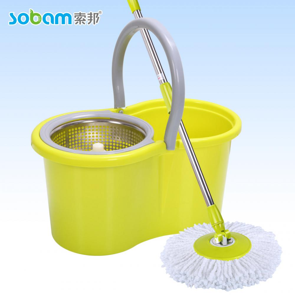 Magic Microfiber Spin Free Dry Mop Bucket