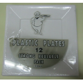 12pcs Disposable plastic square plate