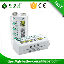 Power supply 9v 500mah Li ion rechargeable battery