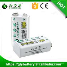 Bateria recarregável de iões de fonte de alimentação 9v 500mah Li