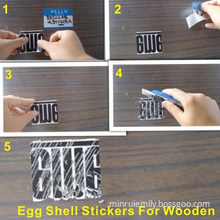 Anti Theft Egg Shell Labels For Wooden Products,very Brittle Destructible Sticker Stick On The Desk Can Not Peeling Off