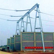 Estructura de acero formada puerta de la subestación de la transmisión de poder del tubo 500kV