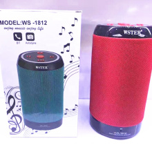 Hot Selling WS1812 Support USB TF CARD FM RADIO Blue tooth Portble Wster Unique Speaker