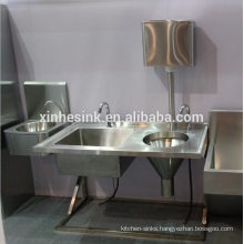 Stainless Steel Sluice Sink Slop Hopper Unit with Cistern, Medical Commercial Cleaner Sink Bucket Sink Mop Sink
