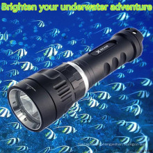 Hi-max Batterie rechargeable magnétique 100m imperméable à l'eau plongée sous marine légère à LED portable pour la plongée