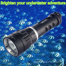 Hi-max Magnetic rechargeable battery 100m waterproof scuba diving cree portable aluminum led flashlight for diving