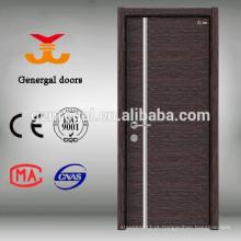 Porta em madeira maciça de melamina com acabamento em madeira maciça