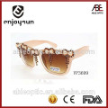 custom fashion uv 400 ce princess style bamboo sunglasses polarized
