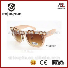 Benutzerdefinierte Mode uv 400 ce Prinzessin Stil Bambus Sonnenbrille polarisiert
