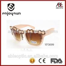Moda personalizada uv 400 ce estilo princesa óculos de sol de bambu polarizados