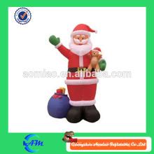Baixo preço santa inflável com boa qualidade, decorações de Natal por atacado de fábrica