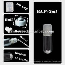 SRS EMBALAGEM garrafa de óleo essencial de vidro 3ml, garrafa de bola de rolo de vidro mini 1ml de cosméticos com tampas de plástico