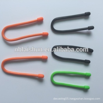 32 Inch 6.6mm Silicone Gear Tie, Silicone Cable Tie, Silicone Worm Tie with Various Colors