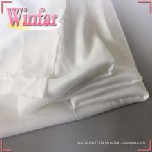 Tissu interlock textile tricoté en polyester DTY