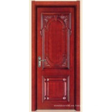 Puerta interior de madera de alta calidad (11-6002) con marco de puerta