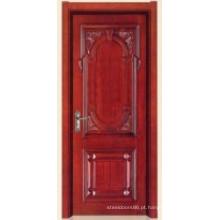 Porta interior de madeira de alta qualidade (11-6002) com moldura de porta