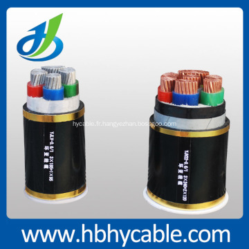 Fil et câble électriques souterrains d'isolation de noyau de cuivre de 6KV / 10KV XLPE