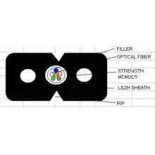 FTTH Drop Câble à fibre optique en variuos Type Gjxh / GJXFH G657A1 / G652D