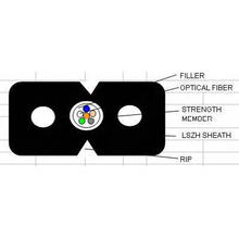 FTTH Drop Optical Fiber Cable in Variuos Type Gjxh/GJXFH G657A1/G652D