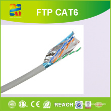 23AWG Conductor sólido Bc Cable Cat-6 FTP