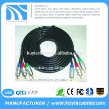 BRAND nuevo cable premium 3RCA macho a macho componente cable AV cable negro