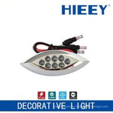 Lámpara de techo lateral LED lámpara de chapado lámpara de matrícula luz decorativa con 3 hilos y LED rojo