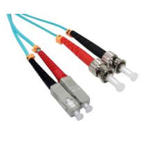 Fiber Patch Cables, Sc to St Duplex, 50/125, Om3